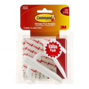 3M COMMAND HOOKS 17003 LARGE WHITE 3PK