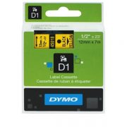 DYMO D1 12MM 45018 BLACK ON YELLOW LABEL TAPE
