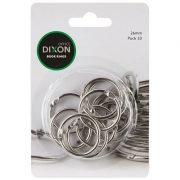 DIXON BOOK RINGS 26MM PACK 10