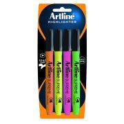 ARTLINE SUPREME HIGHLIGHTER ASSORTED PACK 4