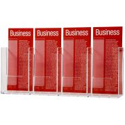 ESSELTE BROCHURE HOLDER DLE WALL 1 TIER 4 COMPARTMENT