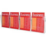 ESSELTE BROCHURE HOLDER A4 WALL SYSTEM 1 TIER 4 COMPARTMENT