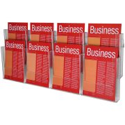 ESSELTE BROCHURE HOLDER A4 WALL SYSTEM 2 TIER 8 COMPARTMENT