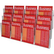 ESSELTE BROCHURE HOLDER A4 WALL SYSTEM 3 TIER 12 COMPARTMENT
