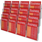 ESSELTE BROCHURE HOLDER A4 WALL SYSTEM 4 TIER 16 COMPARTMENT