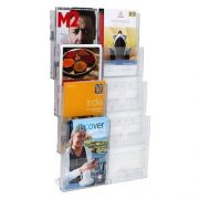 LIT LOC BROCHURE HOLDER A4 4 TIER 8 POCKET WALL MOUNTABLE