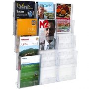 LIT LOC BROCHURE HOLDER A4 4 TIER 12 POCKET WALL MOUNTABLE