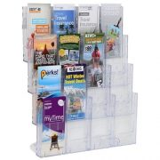 LIT LOC BROCHURE HOLDER DLE 4 TIER 16 POCKET WALL MOUNTABLE