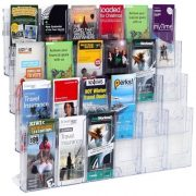 LIT LOC BROCHURE HOLDER DLE 4 TIER 24 POCKET WALL MOUNTABLE