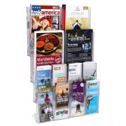LIT LOC BROCHURE HOLDER A4 AND DLE 12 POCKET WALL MOUNTABLE