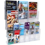 LIT LOC BROCHURE HOLDER A4 AND DLE 18 POCKET WALL MOUNTABLE