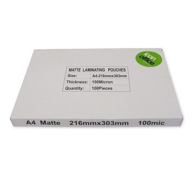 ICON MATT LAMINATING POUCHES A4 100MIC 100PK