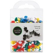DIXON PUSH PINS ASSORTED PK50