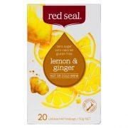 RED SEAL FRUIT TEA LEMON & GINGER 20PK