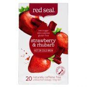 RED SEAL FRUIT TEA STRAWBERRY & RHUBARB 20PK