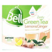 BELL ZESTY LEMON & GINGER GREEN TEA BAG BOX 50