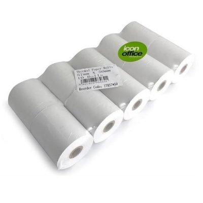 ICON THERMAL PAPER ROLL 57X50 PACK 10
