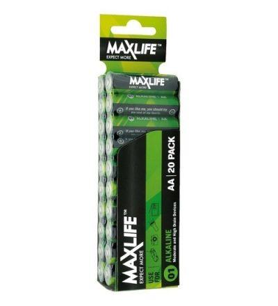 MAXLIFE ALKALINE BATTERY AA 20PK