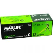 MAXLIFE ALKALINE BATTERY C 12PK