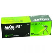 MAXLIFE ALKALINE BATTERY D 12PK