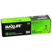 MAXLIFE ALKALINE BATTERY 9V 12PK