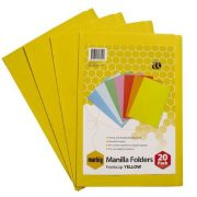 MARBIG MANILLA FOLDER F/C YELLOW PK 20