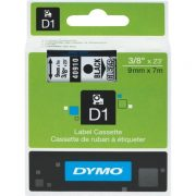 DYMO D1 9MM 40910 BLACK ON CLEAR LABEL TAPE