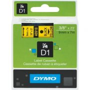 DYMO D1 9MM 40918 BLACK ON YELLOW LABEL TAPE