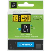 DYMO D1 19MM 45808 BLACK ON YELLOW LABEL TAPE