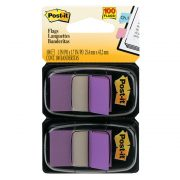 3M POST IT FLAGS 680 25X43MM PURPLE 100PK