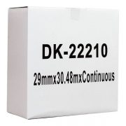 ICON COMPATIBLE BROTHER LABEL DK22210 PAPER 29MM X 30.48M CONTINUOUS WHITE