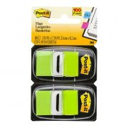 3M POST IT FLAGS 680 25X43MM BRIGHT GREEN 100PK