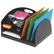 MARBIG ORGANISER DESKTOP METAL 2 WAY BLACK