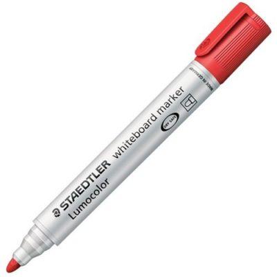 STAEDTLER LUMOCOLOR 351 BULLET WHITEBOARD MARKER RED