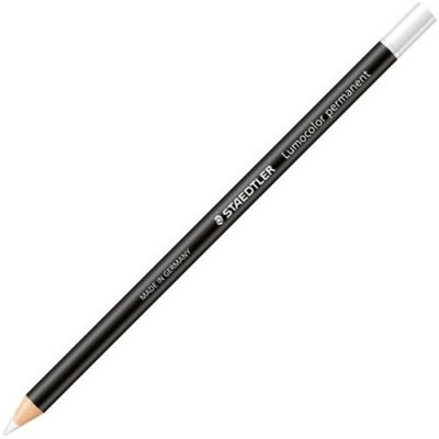 STAEDTLER LUMOCOLOR 1082 GLASOCHROM PENCIL WHITE
