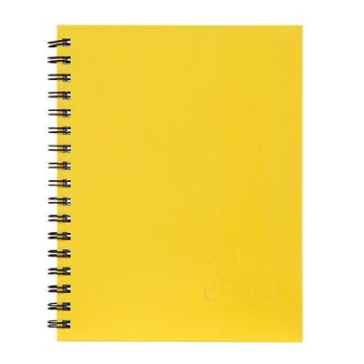 SPIRAX 512 HARD COVER NOTEBOOK A4 YELLOW