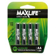 MAXLIFE ALKALINE BATTERY AA 4PK