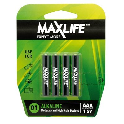 MAXLIFE ALKALINE BATTERY AAA 4PK