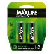 MAXLIFE ALKALINE BATTERY C 2PK