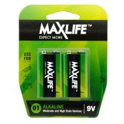 MAXLIFE ALKALINE BATTERY 9V 2PK