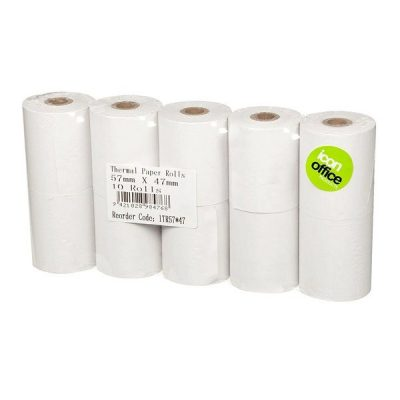 ICON THERMAL PAPER ROLL 57X47 PACK 10
