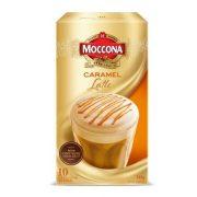 MOCCONA CAFE CARAMEL LATTE INSTANT COFFEE SACHETS 10PK