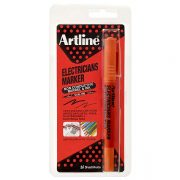 ARTLINE ELECTRICIANS DUAL NIB PERMANENT MARKER ORANGE