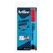 ARTLINE PLUMBERS PERMANENT MARKER RED