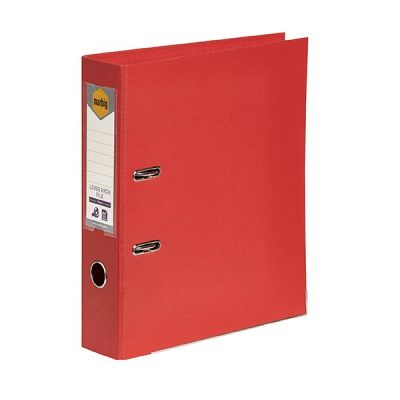 MARBIG LINEN LEVER ARCH FILE A4 BRIGHT RED